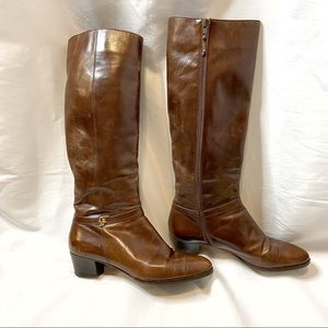 Salvatore Ferragamo Brown Leather Boots
